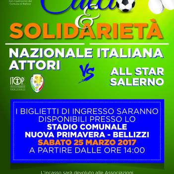Locandina Calcio e Solidarietà